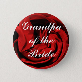 Grandpa Of The Bride 6 Cm Round Badge