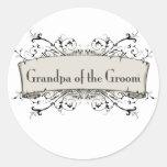 *Grandpa Of the Groom Round Stickers