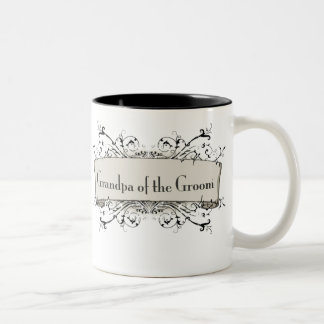 *Grandpa Of the Groom Two-Tone Coffee Mug