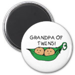 Grandpa of Twins Pod Magnets