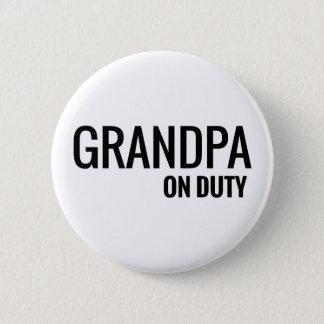 grandpa on duty 6 cm round badge