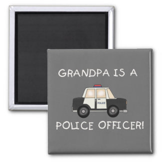 Grandpa Police Officer Tshirts and Gifts Square Magnet