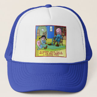 Grandpa Prozac Funny Gifts, Tees, Mugs, Cards Etc Trucker Hat