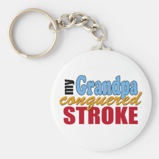 Grandpa Stroke Survivor Key Ring