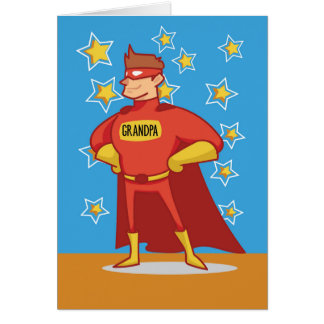 Grandpa Superhero, Grandparents Day Card