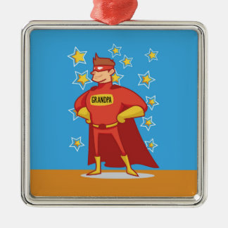 Grandpa Superhero, Grandparents Day Metal Ornament