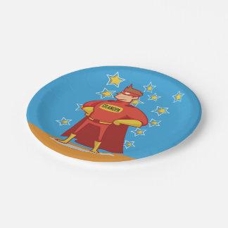 Grandpa Superhero, Grandparents Day Paper Plate