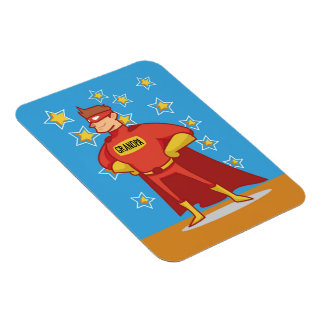Grandpa Superhero, Grandparents Day Rectangular Photo Magnet