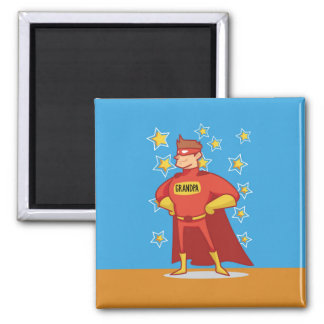 Grandpa Superhero, Grandparents Day Square Magnet