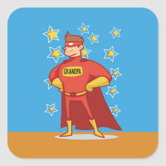 Grandpa Superhero, Grandparents Day Square Sticker