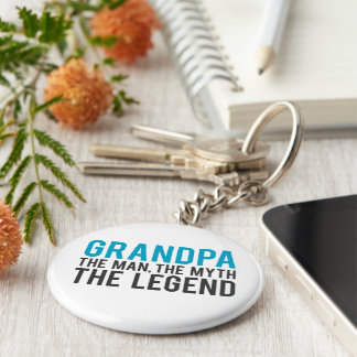 Grandpa, the Man, the Myth, the Legend Key Ring