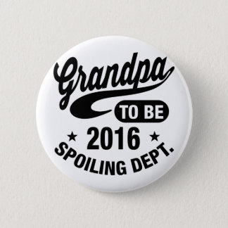 Grandpa To Be 2016 6 Cm Round Badge