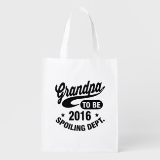Grandpa To Be 2016 Reusable Grocery Bag