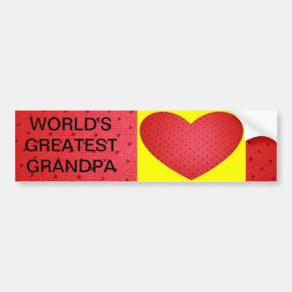Grandpa Valentine Bumper Sticker