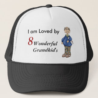 Grandpa with Newspaper Design Trucker Hat