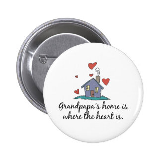 Grandpapa apos s Home is Where the Heart is Pinback Button