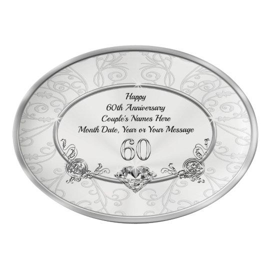Grandparents 60th Wedding Anniversary Gift Ideas Porcelain Serving Platter Zazzle Com Au