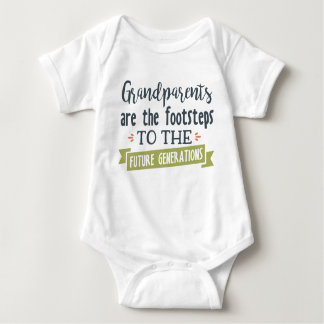 Grandparents are the footsteps baby unisex baby bodysuit