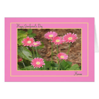 Grandparent's Day Card for Mamaw with Pink Daisies