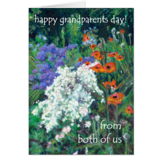 Grandparents Day Card - from both of us - Poppies