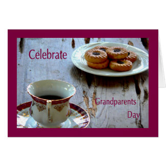 Grandparents Day Card with Tea & Crumpets