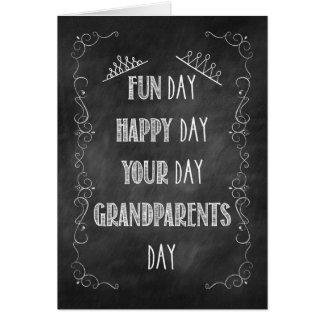 Grandparents Day Chalkboard Birthday, Crown Card