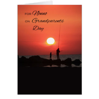 Grandparents Day for Nonno, Fishing at Sunset Card