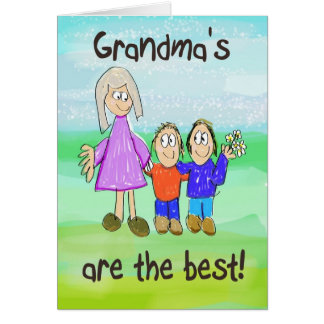 Grandparent's Day Grandma Whimsical Card