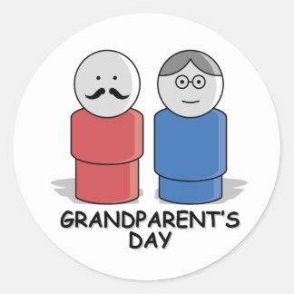 Grandparents Day Round Sticker