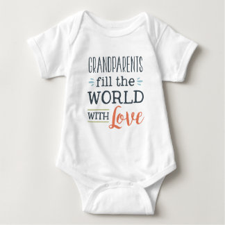 Grandparents fill the world with love unisex baby baby bodysuit