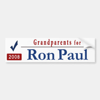 Grandparents for Ron Paul Bumper Stickers