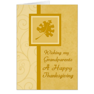 Grandparents Happy Thanksgiving Card