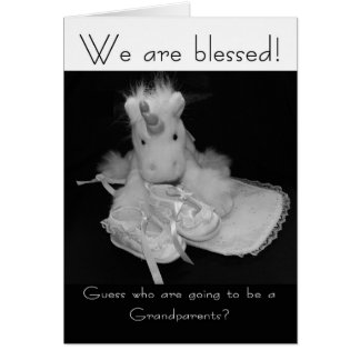 Grandparents new baby we are blessed greeting cards