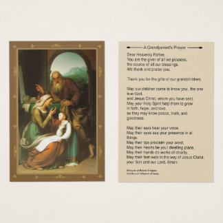 Grandparents Prayer Anne Joachim Mary Business Card