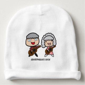 Grandparents Rock Customizable Baby Beanie