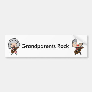 Grandparents Rock Guitar Personalize Bumper Sticker