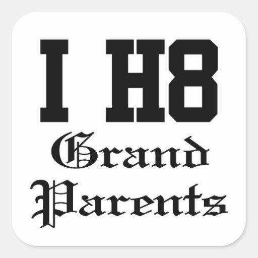 grandparents square sticker
