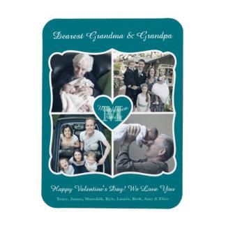 Grandparents Valentine Personalized Instagram Grid Magnet