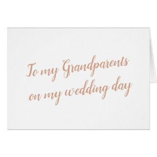 Grandparents Wedding Card