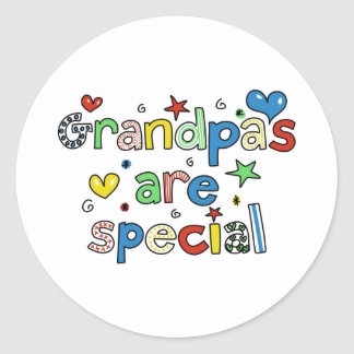 Grandpas are Special Round Sticker