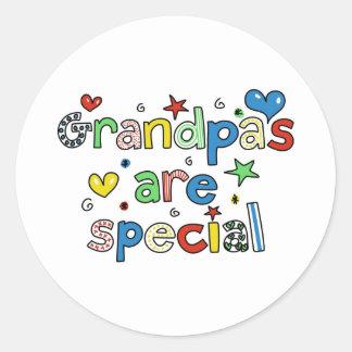 Grandpas are Special Round Sticker