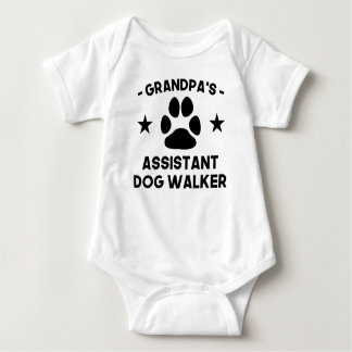 Grandpa's Assistant Dog Walker Baby Bodysuit