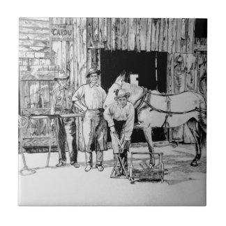 Grandpa's Blacksmith Shop Tile