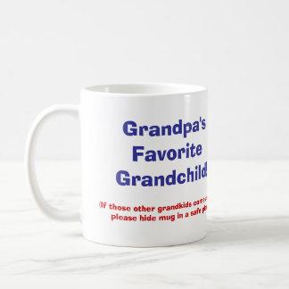 Grandpa's Favorite Grandchild! Basic White Mug
