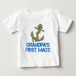 Grandpa's First Mate Baby T-Shirt