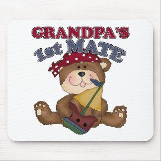 Grandpa's First Mate Pirate Mousepads
