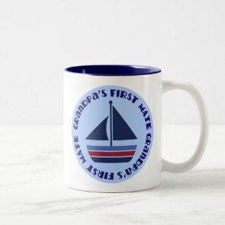Grandpa's First Mate Sailing Sailboat Gift Mug