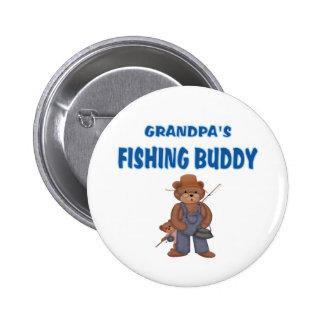 Grandpa's Fishing Buddy Bears Buttons