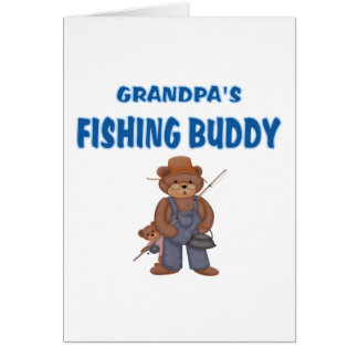 Grandpa's Fishing Buddy Bears Greeting Cards