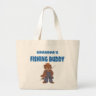 Grandpa's Fishing Buddy Bears Jumbo Tote Bag
